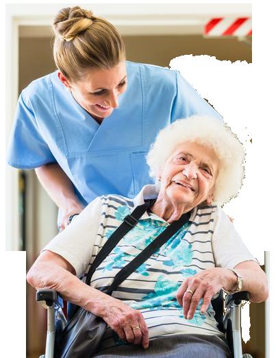 Pflege Daheim GmbH Plauen - Home Pflegerin mit Patient